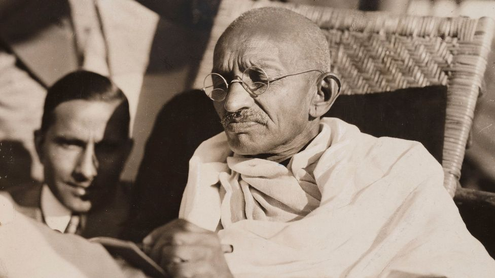 Mahatma Gandhi, India's pioneering independence leader, even toyed with eating meat despite his vegetarian beliefs (Credit: Getty Images)