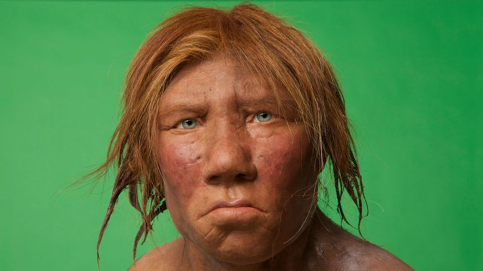 Modern interpretations of Neanderthal looks include ginger hair (Credit: Alamy)