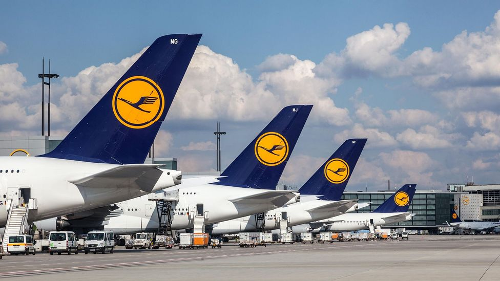 Replacing older planes with cleaner models and streamlining routes are effective short-term measures, says a Lufthansa spokeswoman (Credit: Alamy)