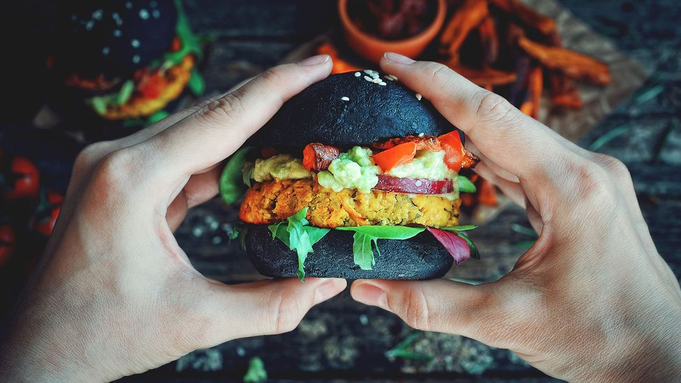 Black bun vegan burger (Credit: Getty Images)