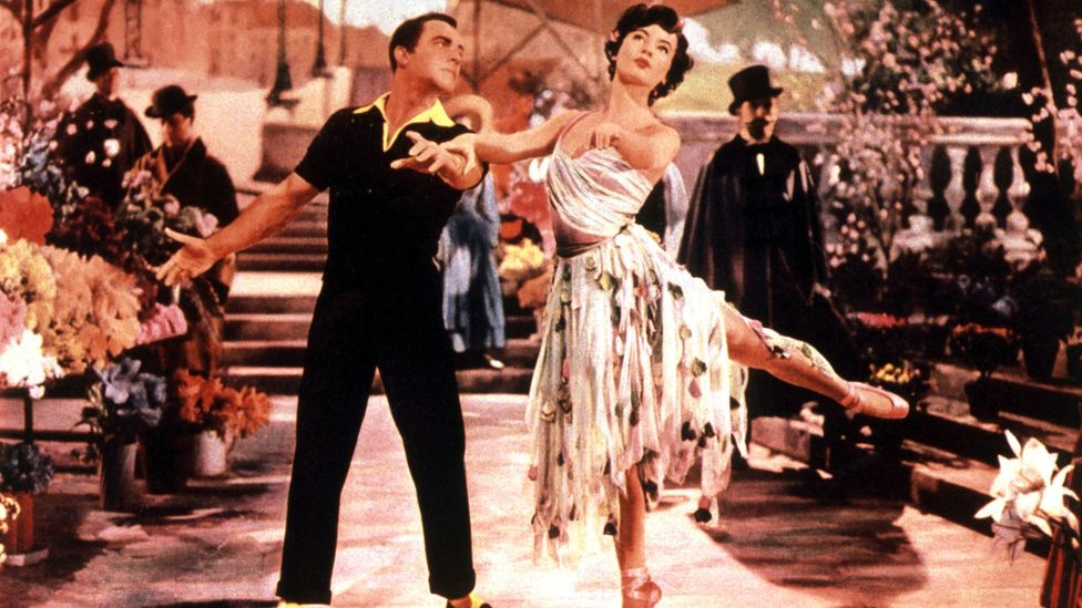 In earlier years, especially, the category rewarded an idea of 'glamour', as with the outfits in 1951's An American In Paris (Credit: Alamy)