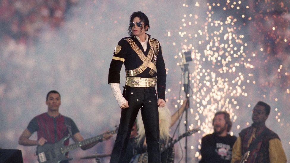 Michael Jackson at the Super Bowl Halftime show 1993