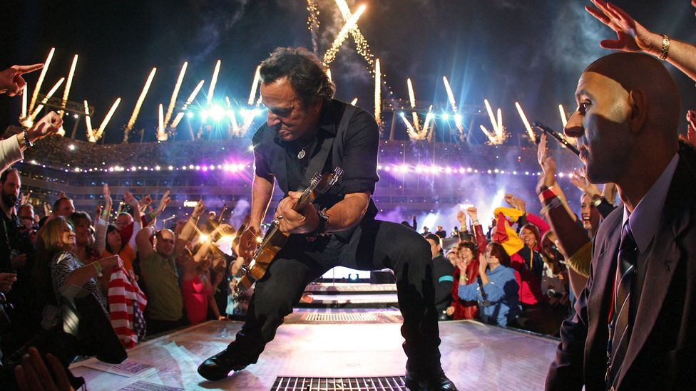 Bruce Springsteen and the E Street Band at the Super Bowl Halftime show 2009