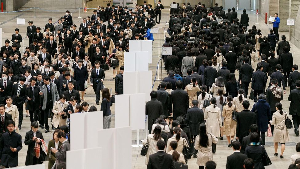 In March every year, Japanese students attend career seminars and submit job applications as part of shūshoku katsudō (credit: Alamy)