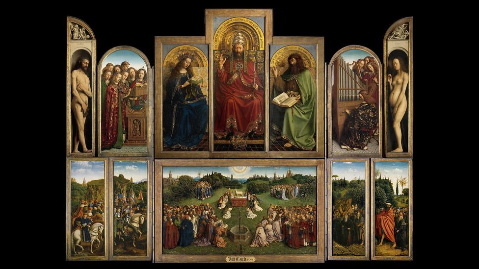 During his lifetime Van Eyck was celebrated for his innovations, including his use of oil paint, light and shade, three-dimensional modelling and realistic textures