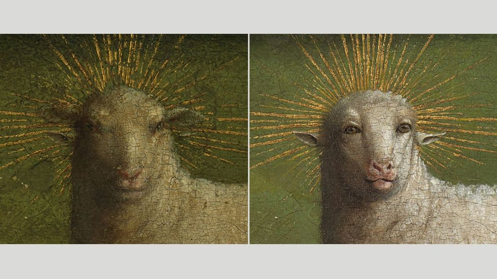 The restored sheep was described as strangely humanoid, with gimlet-like eyes and a comically pouting expression