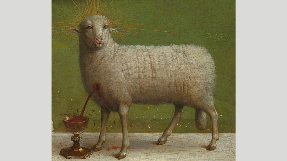When Van Eyck's Ghent Altarpiece was revealed after years of restoration, many were shocked by the strange appearance of the Mystic Lamb