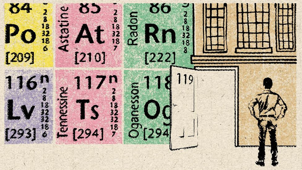 Several research groups are now hoping to be the first to synthesise element 119 and extend the periodic table (Credit: Emmanuel Lafont)