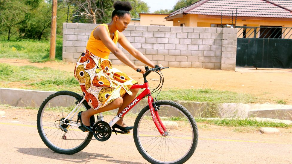 Cycling is still considered a somewhat subversive day-to-day activity in Gaborone, where it is typically dismissed in favour of the prestige of a car (Credit: Sharon Tshipa)