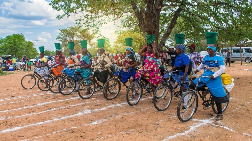 The Dengenzela Bicycle Race takes place every year in the village of Sinete, celebrating the role that cycling has played in local culture (Credit: Kenneth Middleton)