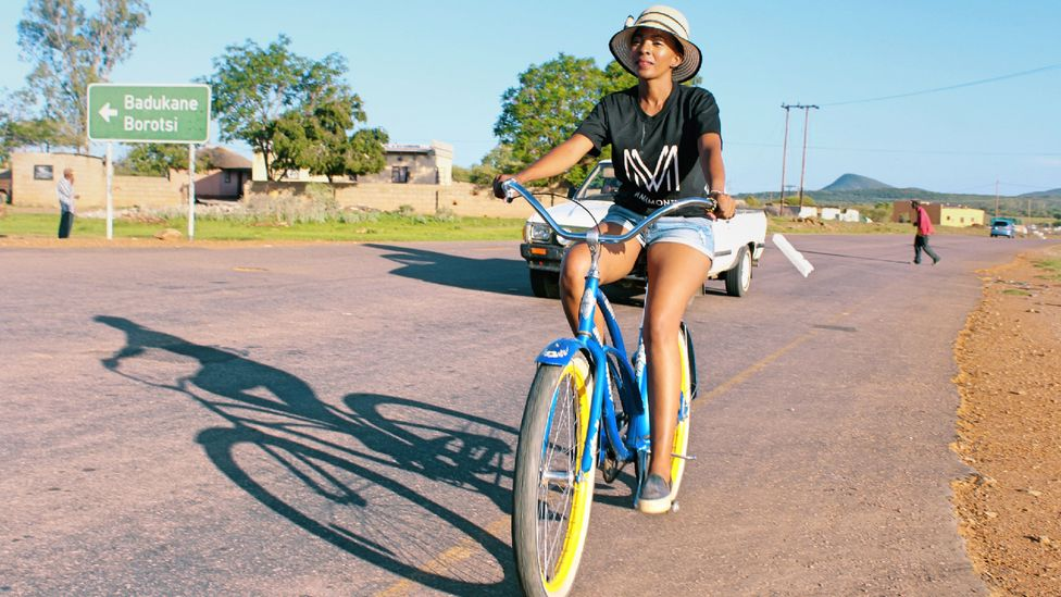 Young people, university students and government officials are among the people beginning to take up cycling day-to-day in Gaborone (Credit: Sharon Tshipa)
