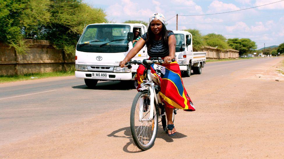 A cultural shift towards cycling in Gaborone has been slow, but entrepreneurs like Ndubo and Sadek hope it will continue (Credit: Sharon Tshipa)