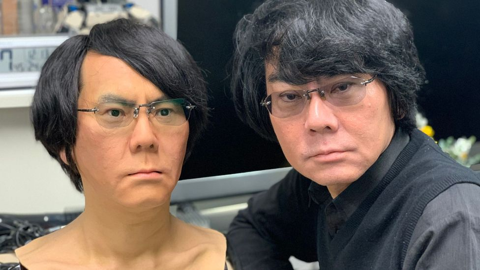 Hiroshi Ishiguro, famous for creating a robot doppelganger of himself, is one of many that say the robotic solutions in Japan will soon apply everywhere (Credit: Bryan Lufkin)