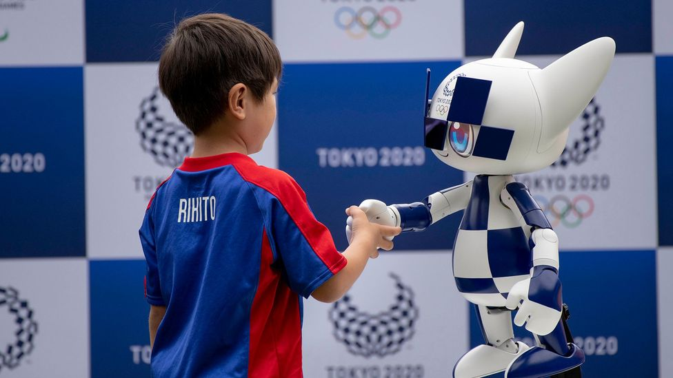 This robot mascot for Tokyo's 2020 Summer Olympics was unveiled by Toyota last year. The car giant will also reveal human assistance robots during the Games (Credit: Getty Images)