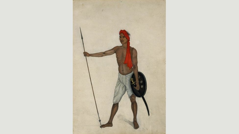 Trooper of Skinner's Horse Holding a Spear (c 1815-1816) by Ali Khan, whose work is seen as a valuable document of the Mughal Empire towards its end (Credit: Private collection)