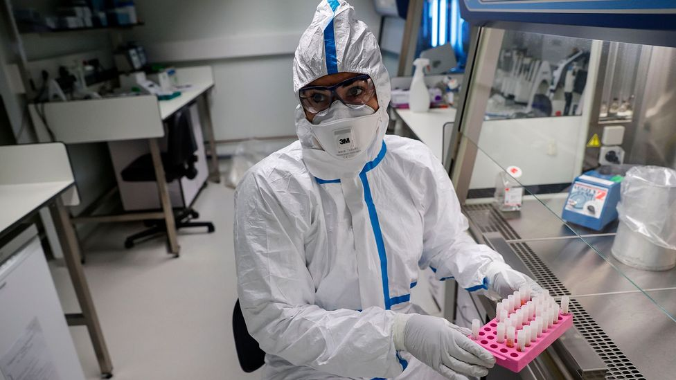 Laboratories around the world are now working on new tests for the Wuhan coronavirus while others are developing treatments for those infected with it (Credit: Getty Images)