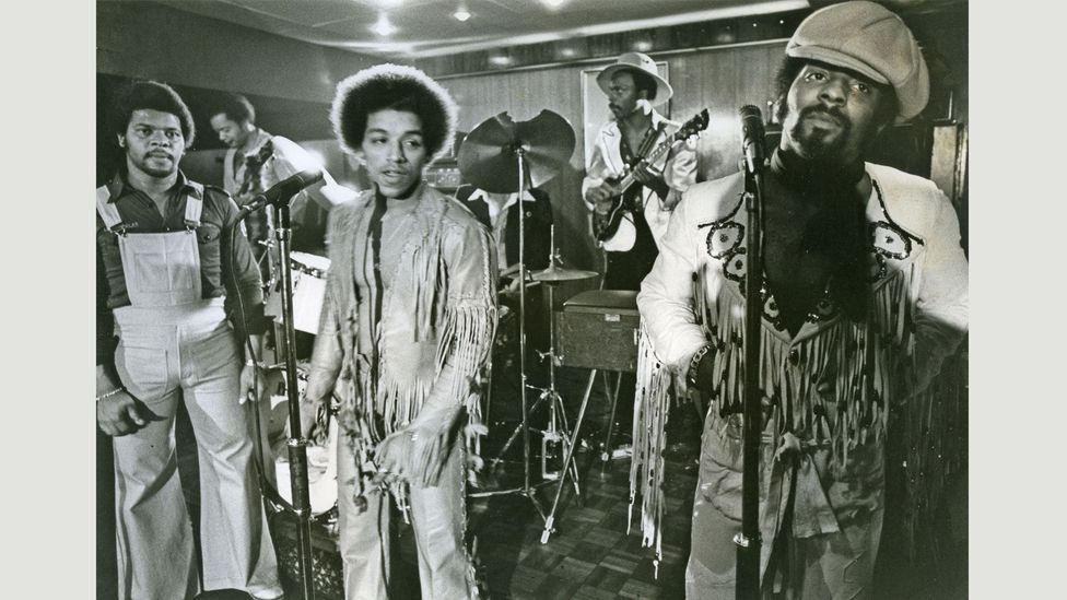 They were the first all-black British band to have a UK number one single, You To Me Are Everything (Credit: Alamy)