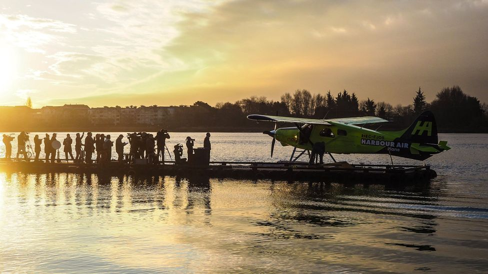 The retrofitted de Havilland DHC-2 Beaver took off from the Fraser River in the early morning light for a four minute test flight (Credit: Diane Selkirk)