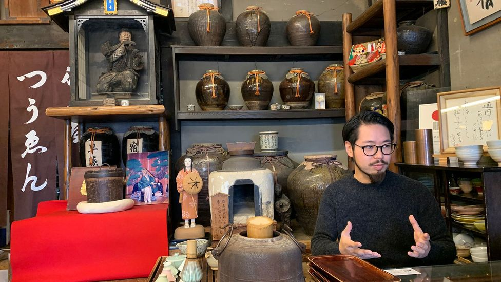 Yusuke Tsuen, 38, is the proprietor of Kyoto's Tsuen Tea, a tea house nearing 900 years old. He says picking up the family business was a no-brainer to him (Credit: Bryan Lufkin)