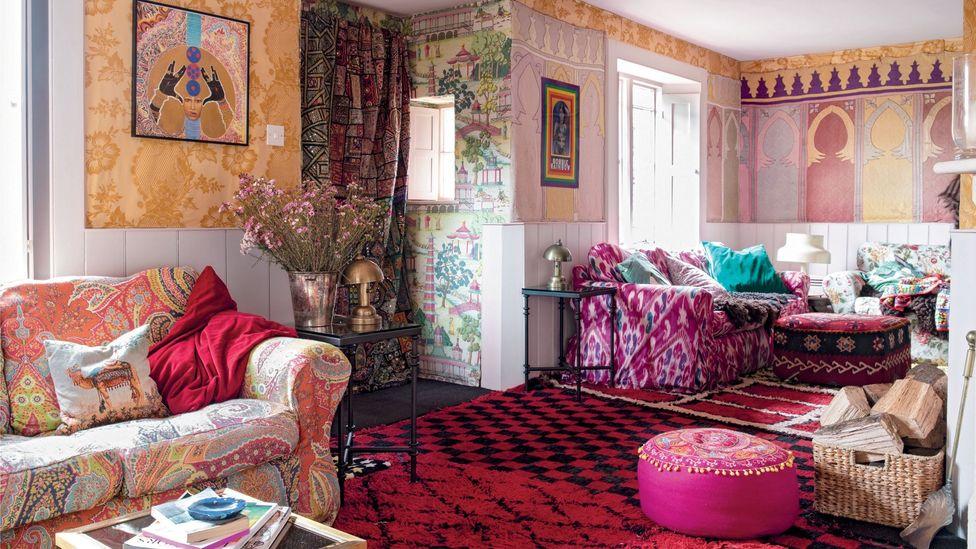 The home of jewellery designer Solange Azagury-Partridge is, like her work, full of vibrant colour