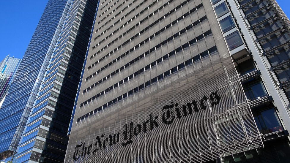 Publications such as The New York Times serve to arbiter what is wrong or right when it comes to apostrophes and other grammatical usage (Credit: Alamy)