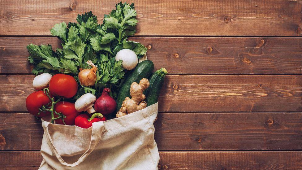Vegetables in bag (Credit: Getty Images)