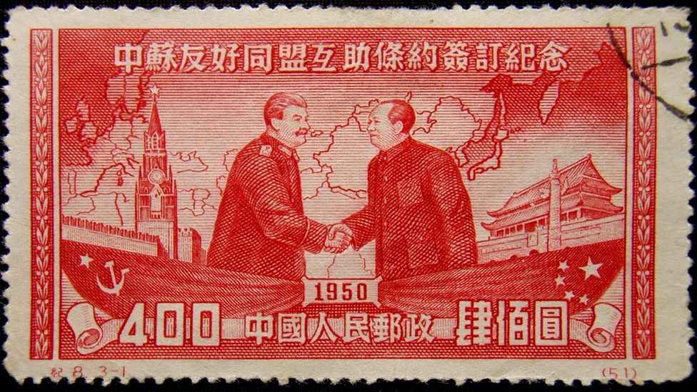 In 1950, the USSR and China joined an alliance, a relationship that would directly impact China's computing industry (Credit: Getty Images)