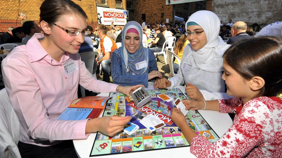 Monopoly enthusiasts take part in a record attempt in Germany in 2008 (Credit: Getty Images)