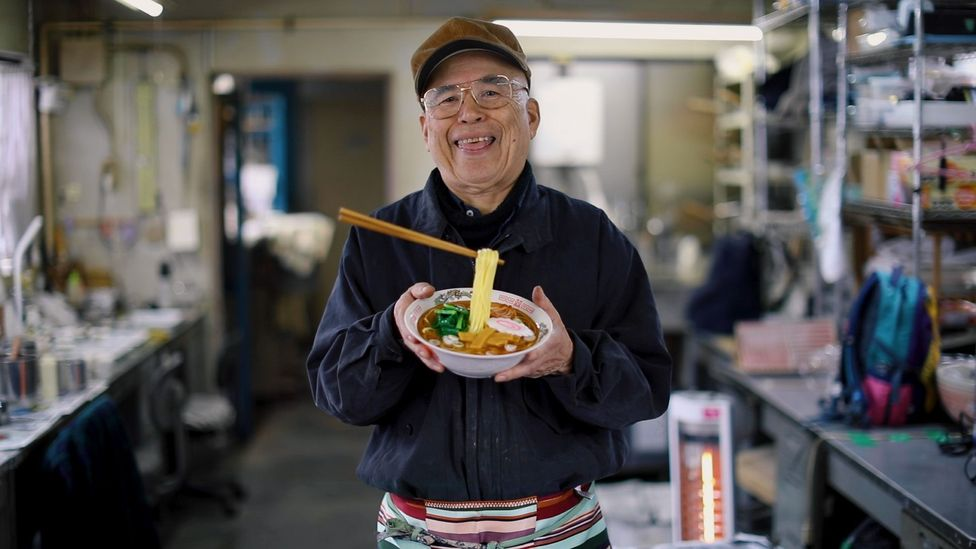 """I can make anything,"" says craftsman Noriyuki Mishima, who's been making fake food since 1953 (Credit: Shiho Fukada and Keith Bedford)"