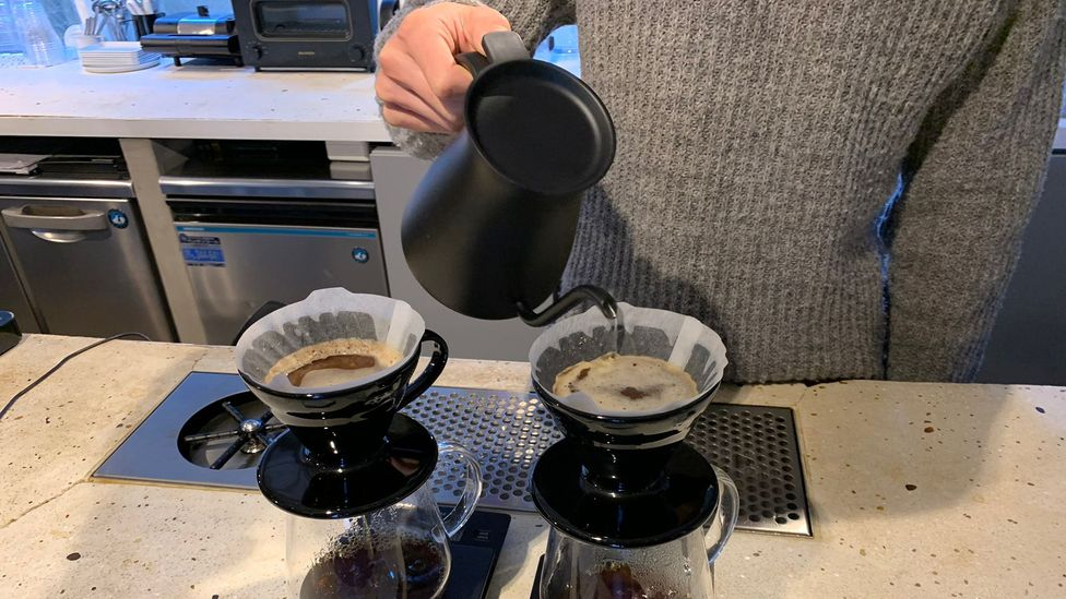 Japan's attention to detail gets global interest: Japan's pour-over style coffee influenced Blue Bottle and other big names in modern coffee (Credit: Bryan Lufkin)