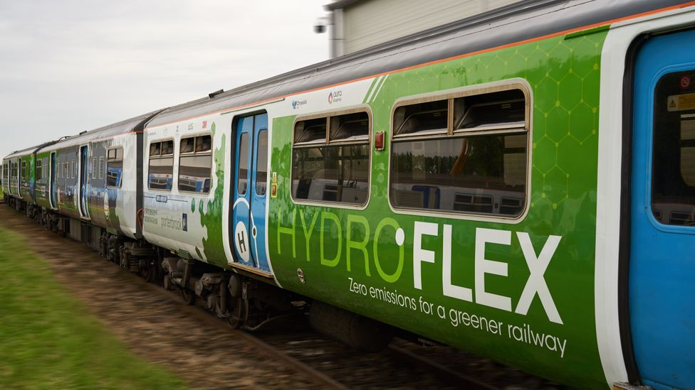 Hydrogen-powered trains like Hydroflex are emissions free - provided their hydrogen comes from a renewable source (Credit: University of Birmingham)