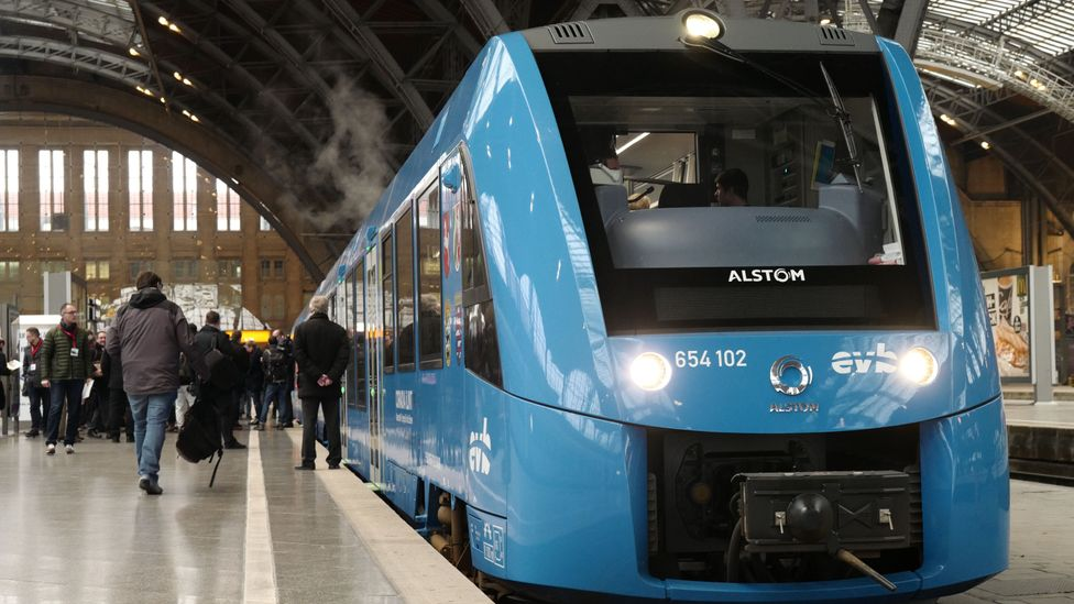The German Coradia iLint was the world's first hydrogen-powered locomotive (Credit: Getty Images)