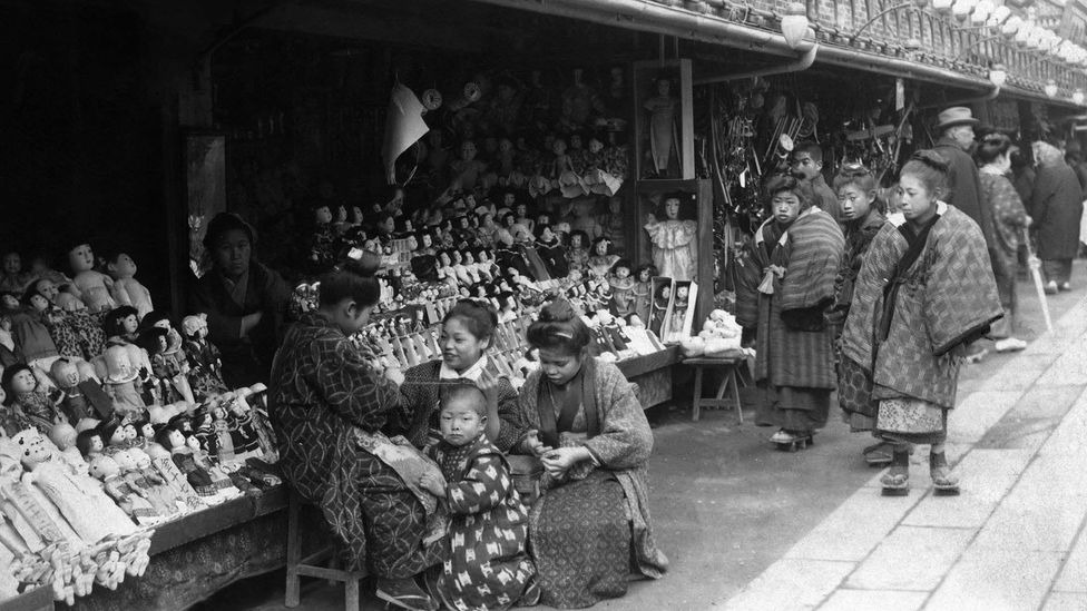 Asakusa in the Shitamachi area of Tokyo was badly damaged during the Great Kanto Earthquake of 1923 (credit: Ullstein Bild/Getty Images)