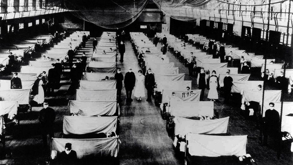 Spanish flu ward (Credit: Getty Images)