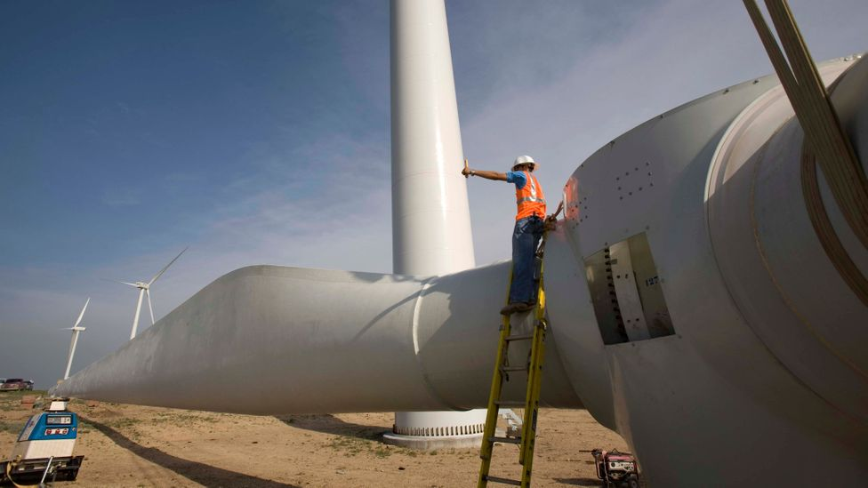 Wind farms are often constructed in rural areas, but there is concern that these sites are often havens for wildlife (Credit: Getty Images)