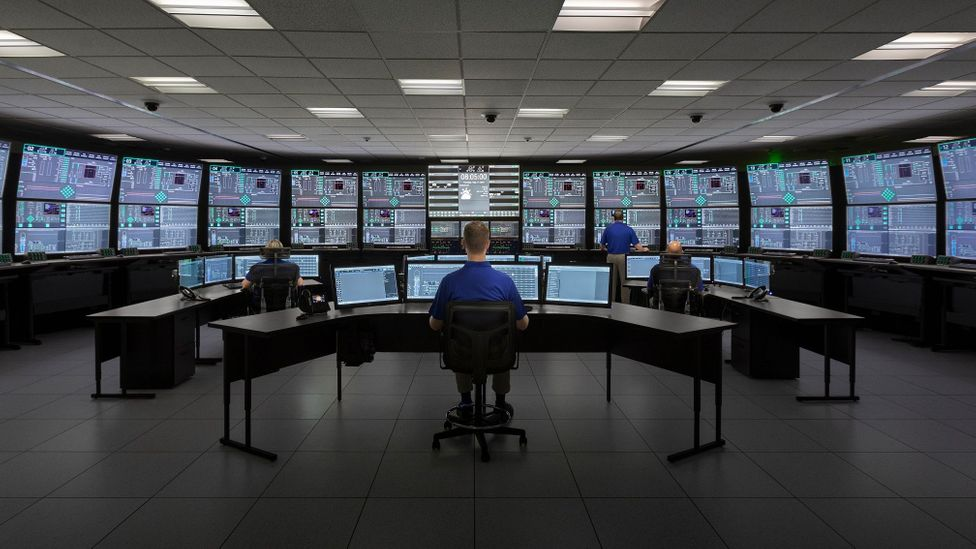 Even a small nuclear power plant requires a large and complex control room (Credit: Nuscale Power)