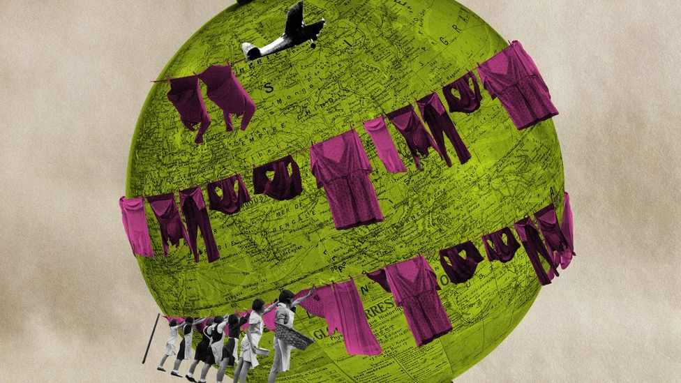 The fashion industry is responsible for more carbon emissions than those that come from aviation (Credit: Getty Images/Alamy/Javier Hirschfeld)
