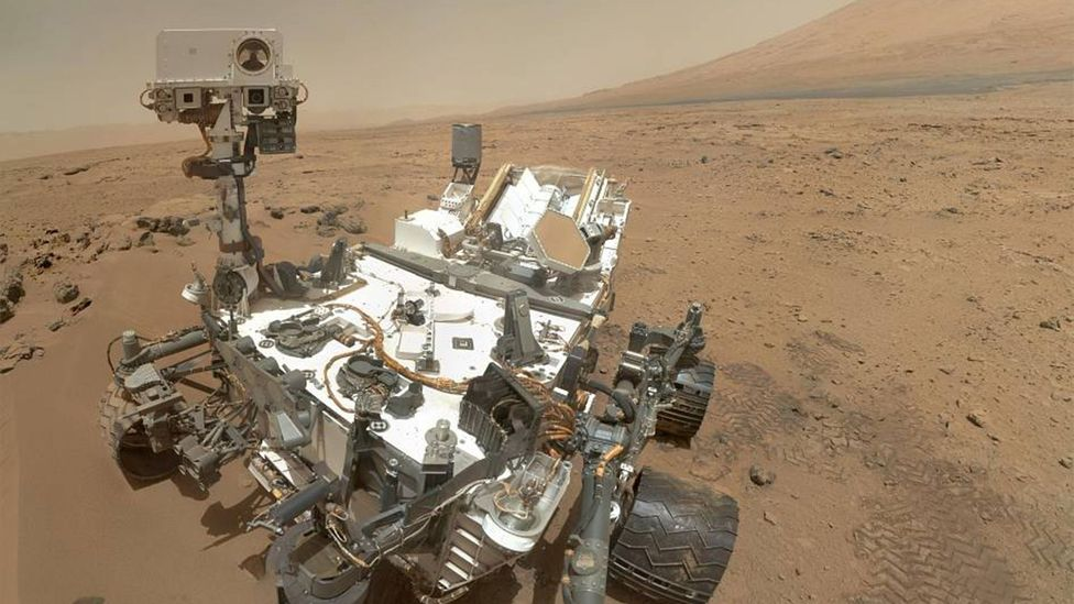 Mars rovers like Curiosity have be assembled in clean rooms so they don't infect the Martian surface with Earth microbes (Credit: Nasa)