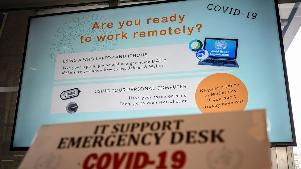 Companies big and small around the world have begun rolling out mandatory remote working schemes to promote social distancing to stop the Covid-19 spread (Credit: Getty Images)