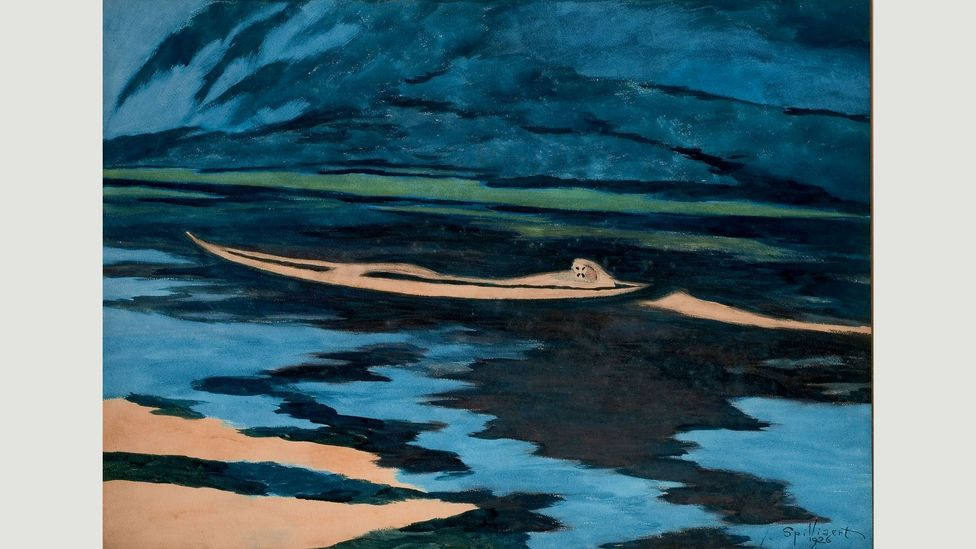Spilliaert's eerie, enigmatic works, such as The Shipwrecked (1926) inhabit a twilight netherworld between reality and dream