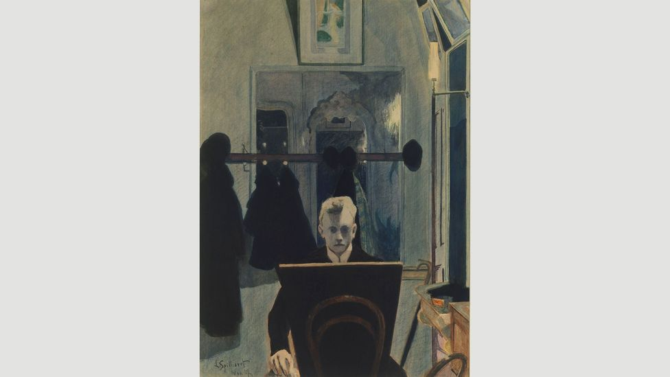 In his self-portraits such as Self-portrait (1907) he appears to be wrestling with his inner demons