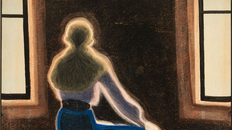 Young Woman on a Stool detail (Credit: The Hearn Family Trust)