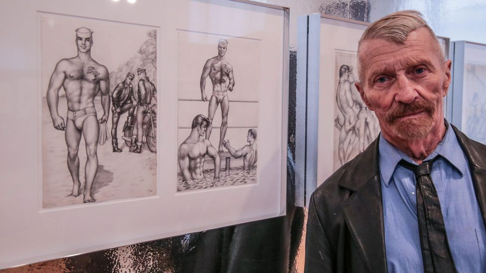 Touko Laaksonen's friend Durk Dehner (here pictured at London's House of Illustration) has ensured the survival of his legacy