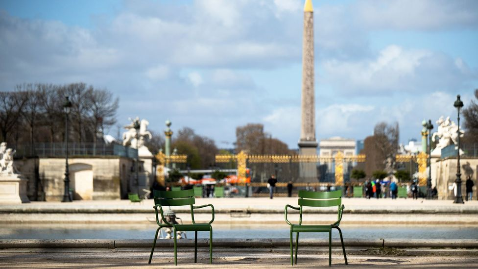 Jardin des Tuileries is very quiet in Paris, France (Credit: NurPhoto/Getty Images)