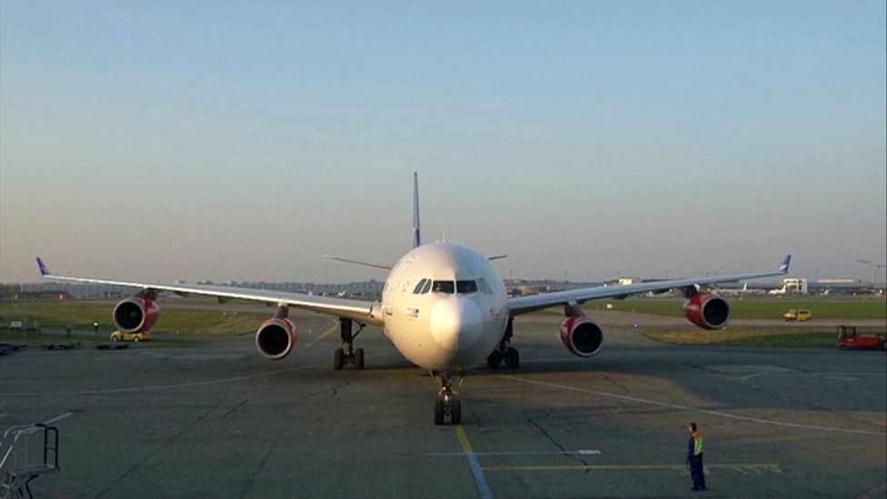 Up to 90% of flights on most airlines have been grounded during the coronavirus crisis (Credit: BBC's The Travel Show)
