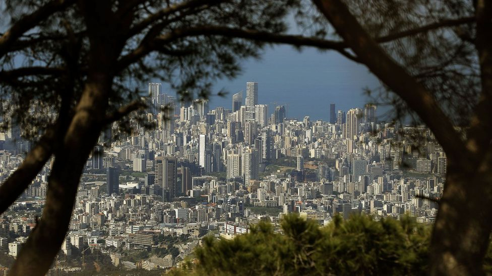 The skies have cleared around Beirut, Lebanon – a city known for high levels of air pollution (Credit: Getty Images)