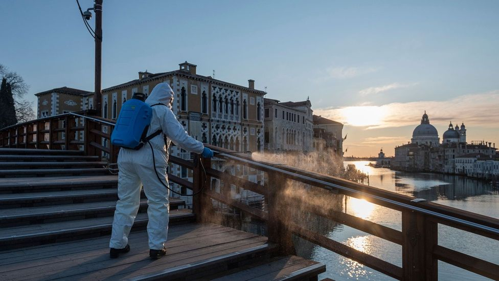 With crowds gone, popular tourist sites around the world have reported lower pollution levels (Credit: Getty Images)