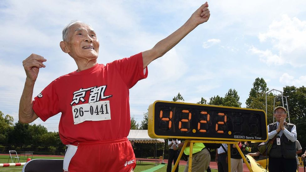 """Hidekichi Miyazaki picked up the nickname """"Golden Bolt"""" for his super-centurion sprinting (Credit: Getty Images)"""