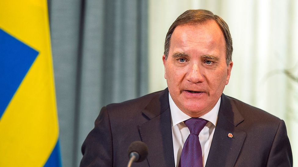 Swedish Prime Minister Stefan Löfven calls on Swedes to take responsibility in stopping the spread of the Coronavirus in a televised national address (Credit: Getty Images)