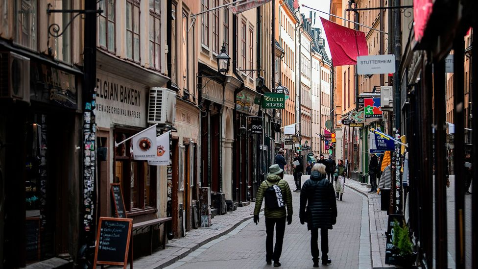 Sweden is keeping primary schools, restaurants and bars open and encouraging people to go outside for a nip of air (Credit: Getty Images)